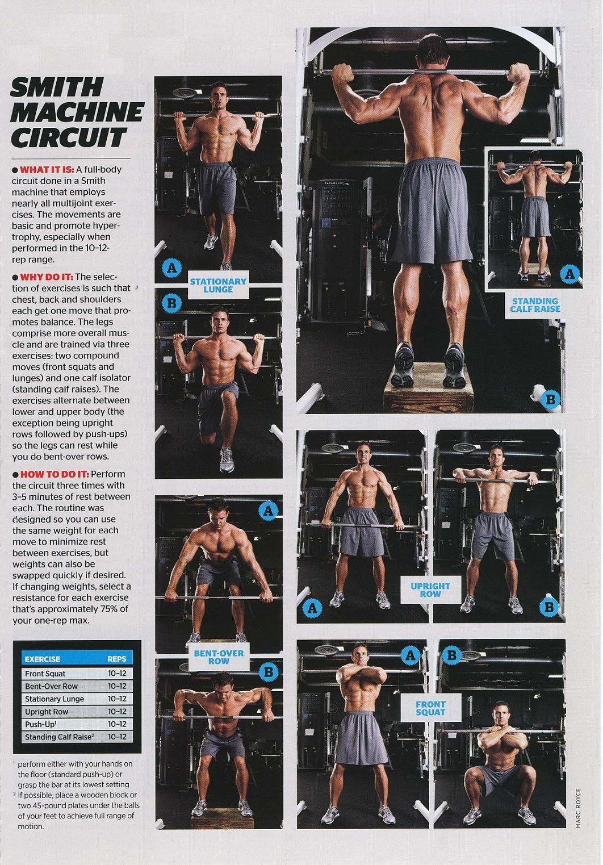 Smith machine workout fitness junkie pinterest