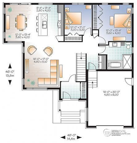 Discover The Plan 3283 Stillwell Which Will Please You For Its 2 Bedrooms And For Its Modern Design Styles House Plans House Floor Plans Contemporary House Plans