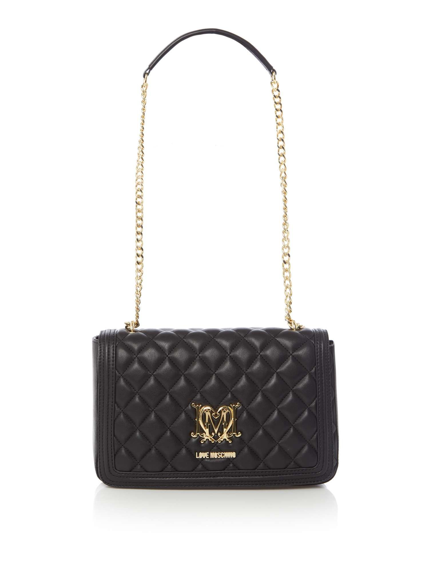 f68f7bf8d5 Buy your Love Moschino Superquilt Foldover Bag online now at House ...