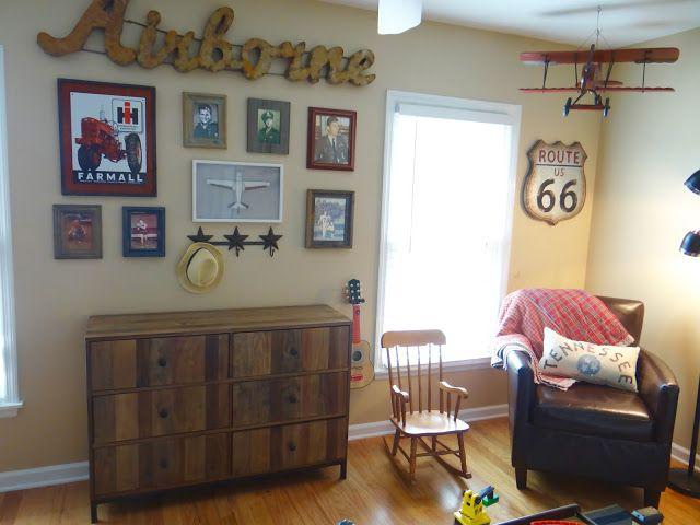 Boy S Vintage Transportation Bedroom Toddler Room Airplanes Trains Cars