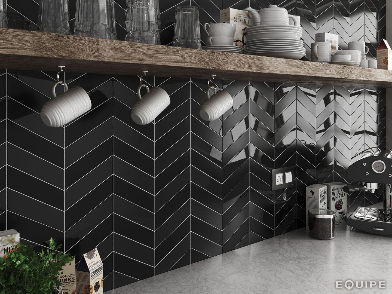Get The Herring Bone Tile Look With The Fantastic Chevron Tile Collection Looking For A Sty Kitchen Tiles Design Kitchen Backsplash Trends Black Backsplash