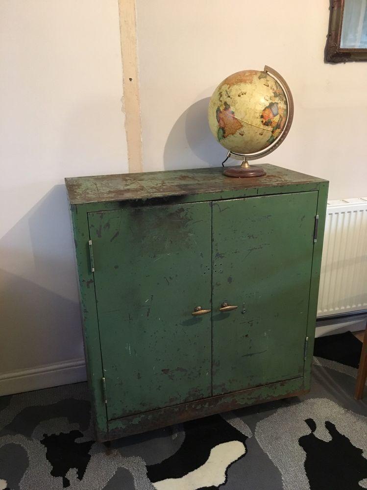 triumph metal cabinet industrial workshop cabinet vintage retro man cave ebay