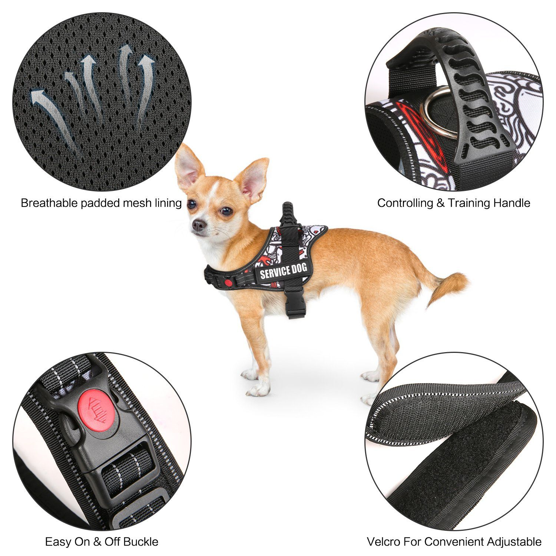 Goldbell Dog Vest Harness For Service Dogs Mesh Padded Dog