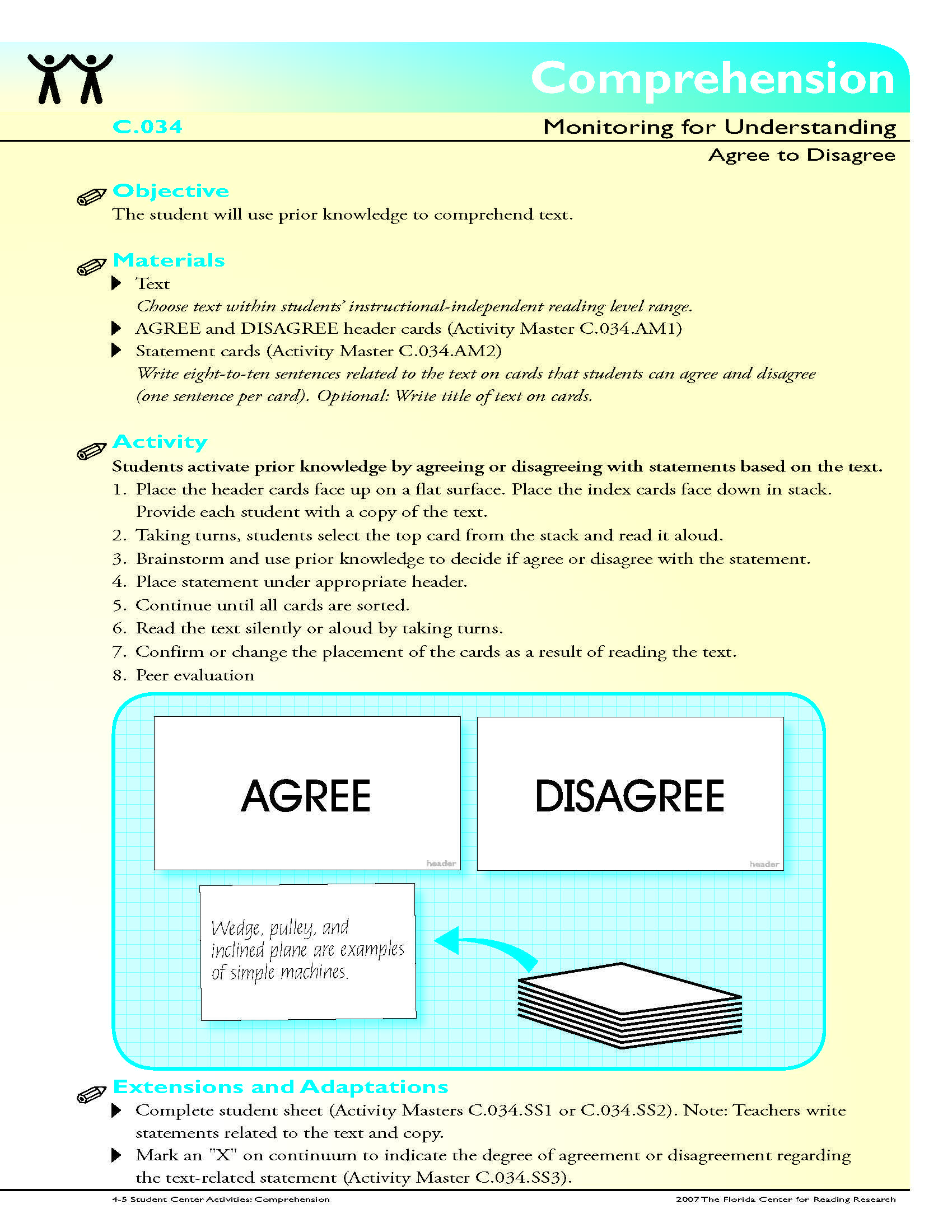 The Student Will Use Prior Knowledge To Comprehend Text