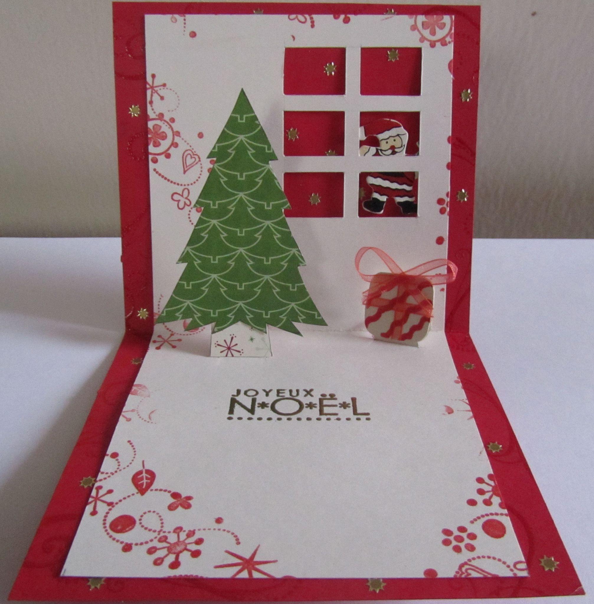 Cartes De No L 3 Pop Up 4 Cartes De Noel Kirigami Cartes