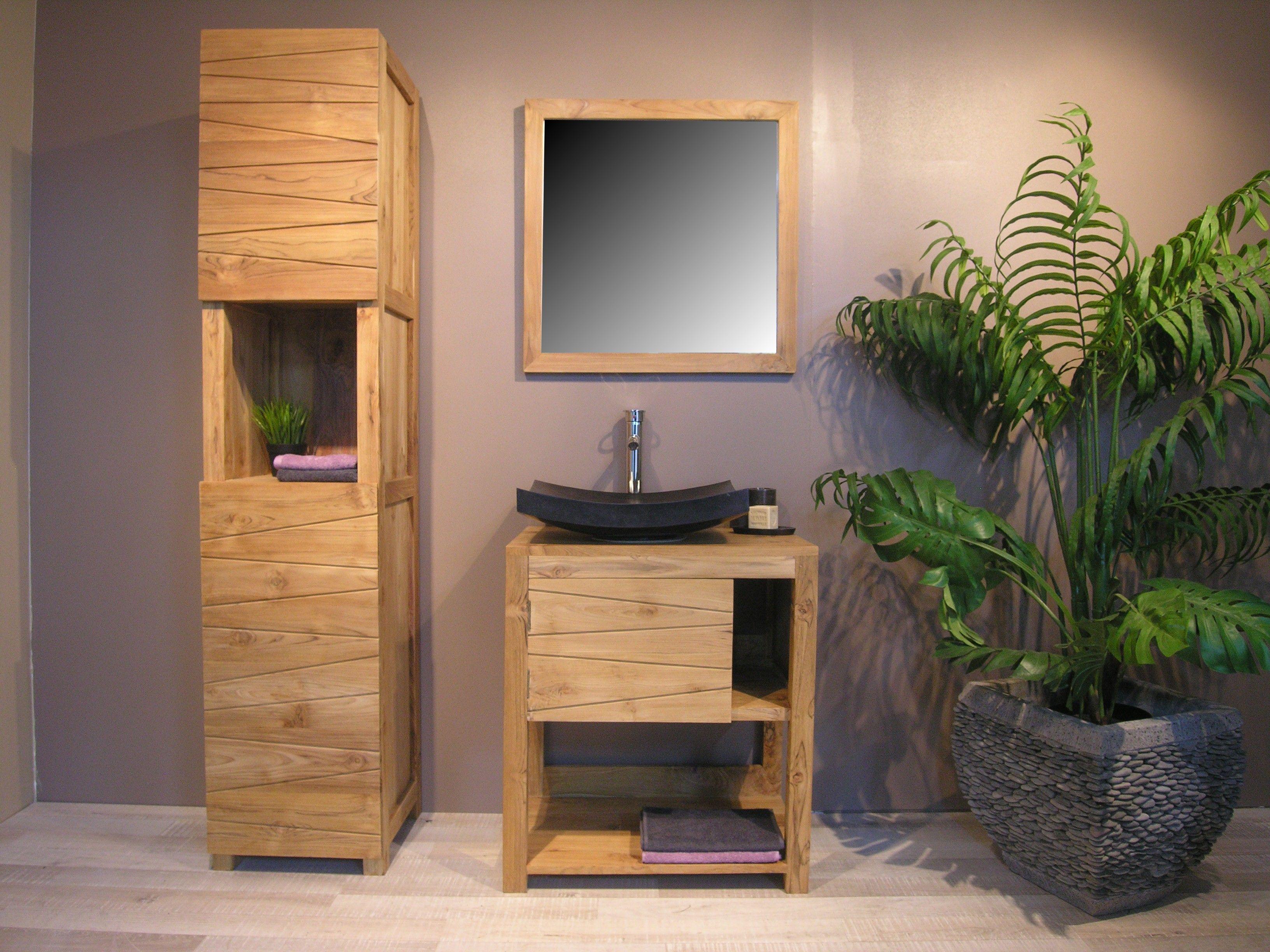 Beautiful Meuble Rangement Salle De Bain Noir Pictures Amazing  # Meuble Rangement Noir Bois