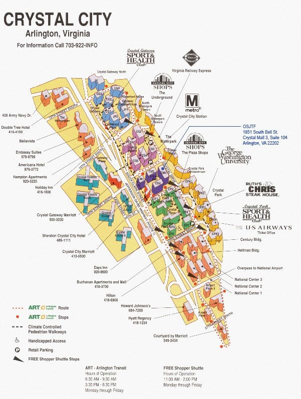 Crystal City Map Crystal City map   staying at the Gateway Marriott againI love  Crystal City Map