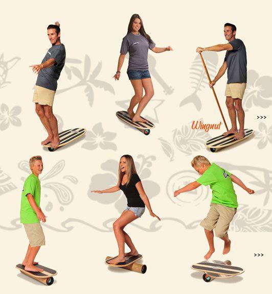 Surf training, Balance board