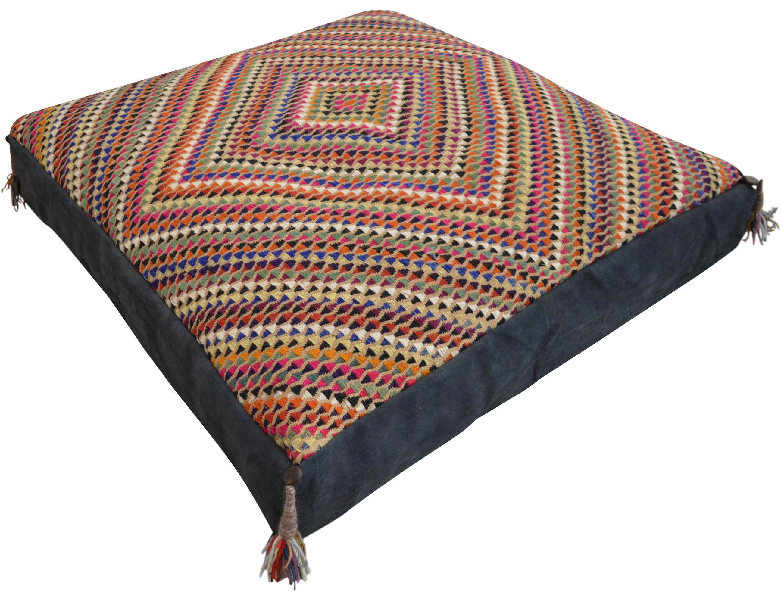 Hand Woven Floor Pillow - 35″ X 35″ Turkish Hand made Sitting Pillow ...