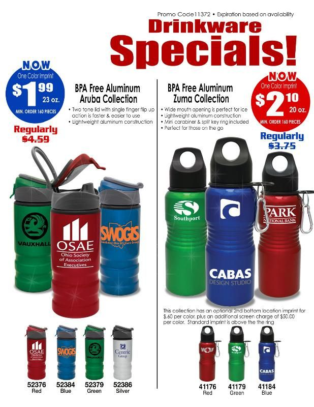 Water Bottle Promotions On Promotional Items And