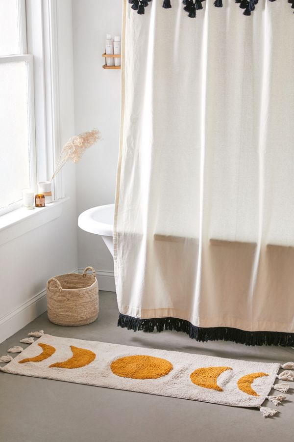 Moon Phase Runner Bath Mat Bath Mat Decorating Bathroom Bathroom Decor