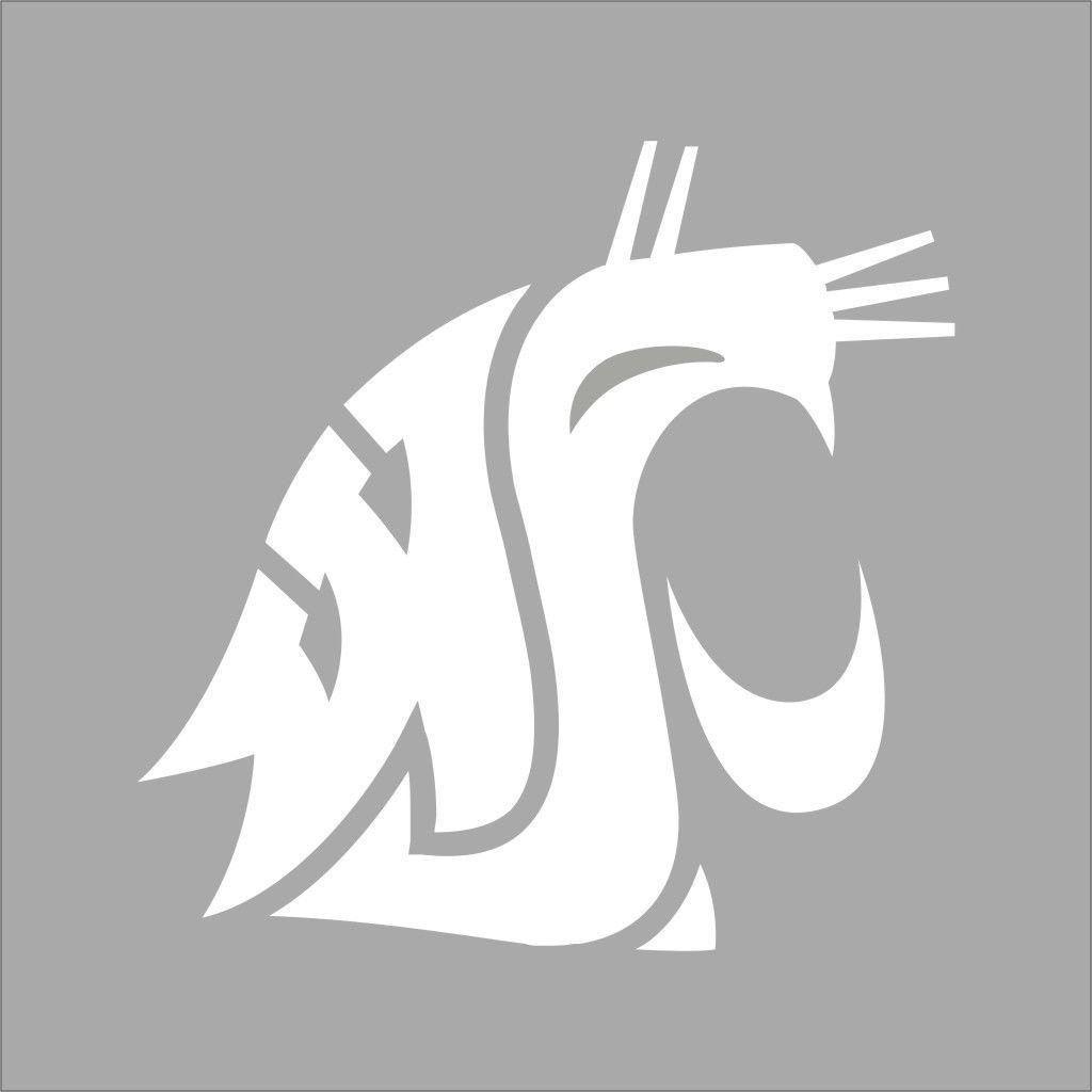 Washington State Cougars College Logo 1c Vinyl Decal Sticker Car Window Wall Vinyl Decals Washington State Cougars Vinyl Decal Stickers [ 1024 x 1024 Pixel ]