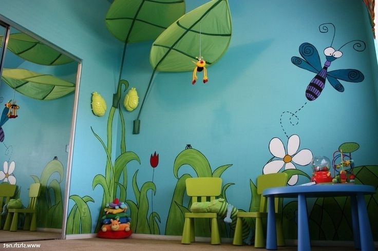Kids Room Jungle Wall Mural Ideas 7 Anoninterior Within Kids Room ...