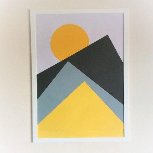 DIY Nordic geometric wall art | Hobby Ideas | Pinterest | Geometric ...