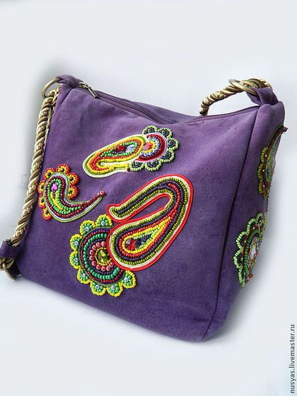 Сумка-рюкзак 'Огурчики пейсли1'