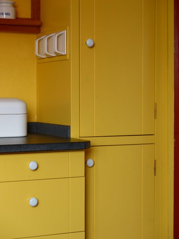 Kuchenschranke Shakerstyle Gelb Ausfuhrung Seeland Mit