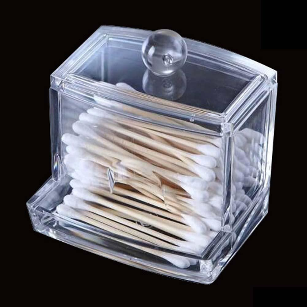 Clear Acrylic Cotton Swab Q-tip Storage Holder Box Cosmetic Makeup Case Hot  storage holder