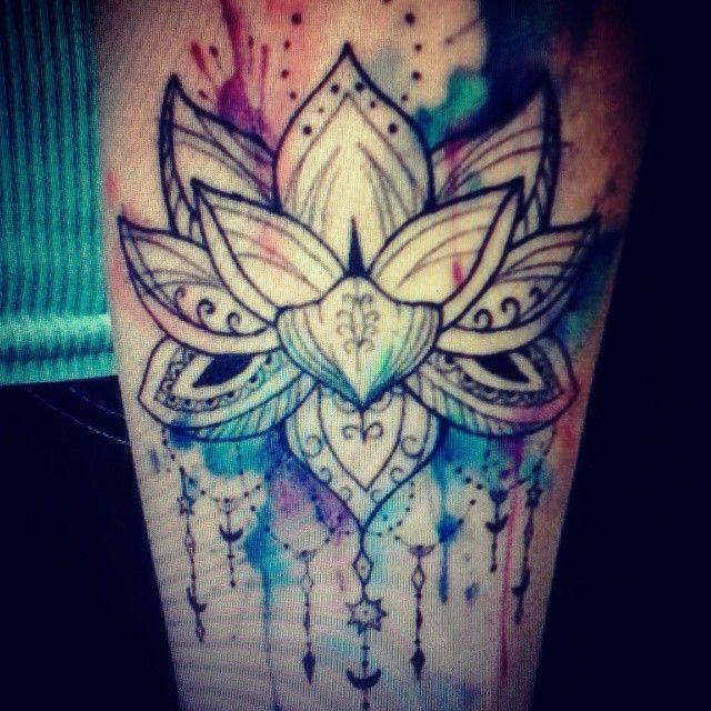 Mandala Watercolor Tattoo Google Search Lotus Tattoos Love