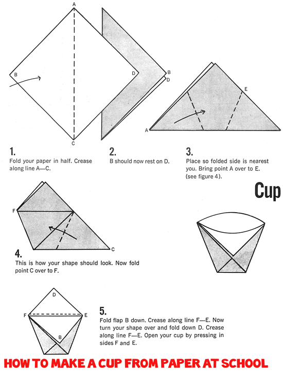 Making Paper Origami Cups From At School Branding