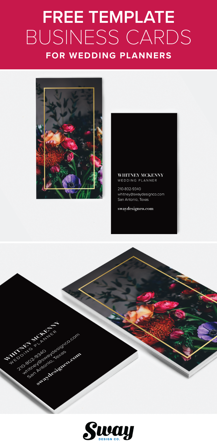 Free Printable Modern Black Floral And Gold Business Card Template - Wedding business card template
