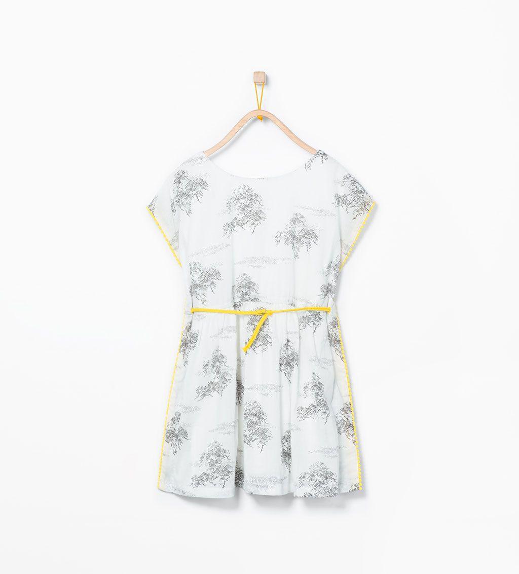 Imagem 1 de Cafetã estampado cinto da Zara