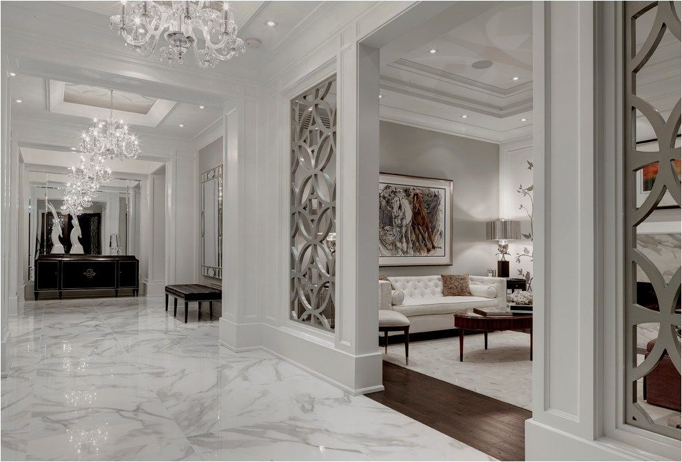 40 Stunning And Clean White Marble Floor Living Room Design