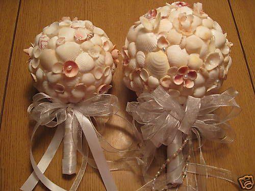 unique handmade seashell bridesmaid wedding bouquet ebay