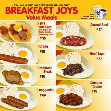 Jollibee Breakfast Meals