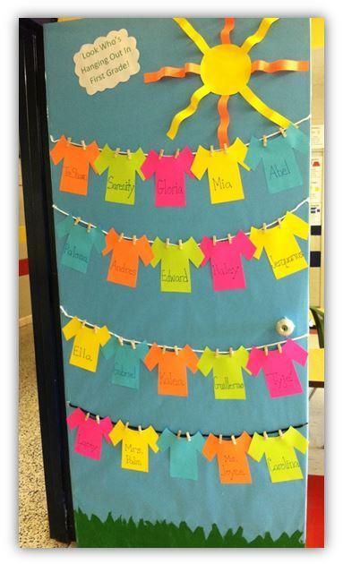 classe decoration de porte juin