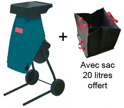 Broyeur de végétaux électrique à couteaux 2400W en super promo à 139€ le 2 décembre ! Et en cadeau le sac 20 Litres pour le ramassage des déchets !! http://www.euro-expos.net/broyeur-vegetaux-606/broyeur-jardin-2400w-electrique-5655.html