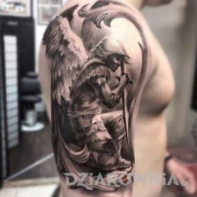 Kleczacy Aniol Tattoos Archangel Tattoo St Michael