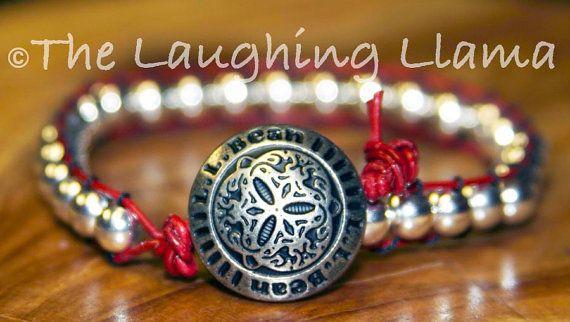 Silver Woven Leather Bracelet Silver Boho by TheLaughingLlama, $14.00 #Etsy #Boho #Bracelet