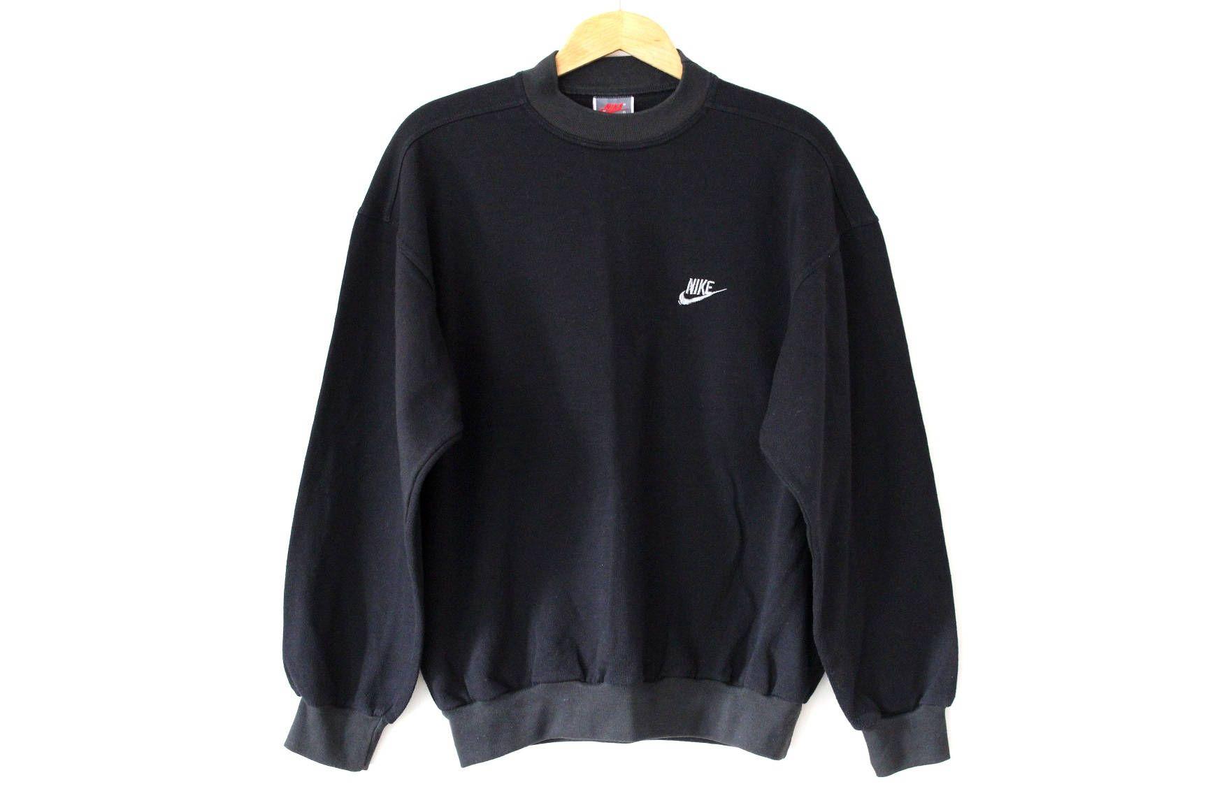 Vintage Nike Sweatshirt 80 S Sportswear Black Hip Hop Streetwear Rare Sweater Pullover Jumper Nike Usa Oregon Made In Greece Track Top Vintage Nike Sweatshirt Nike Sweatshirts 80s Sportswear