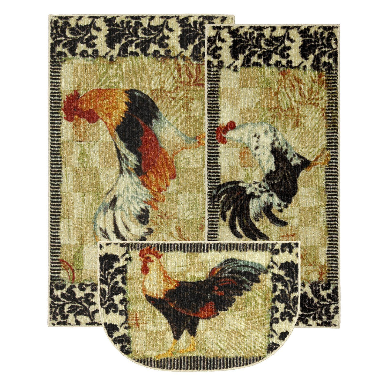 Mohawk New Wave Kitchen Bergerac Rooster Rug $29