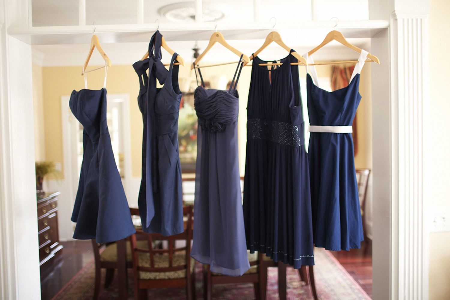navy blue wedding dress Mix and match navy blue bridesmaids dresses I think I could let go of