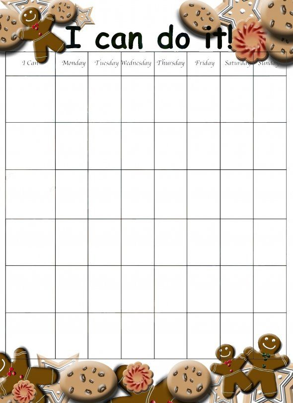 Free Printable Behavior Chart for Kids Cookies Behavior chart - printable behavior chart