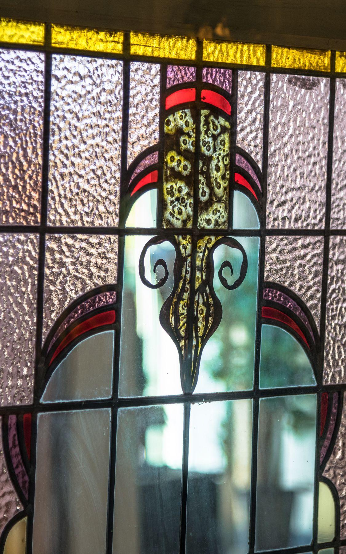 Close Up Glas In Lood Glas In Lood Glas Ramen En Deuren