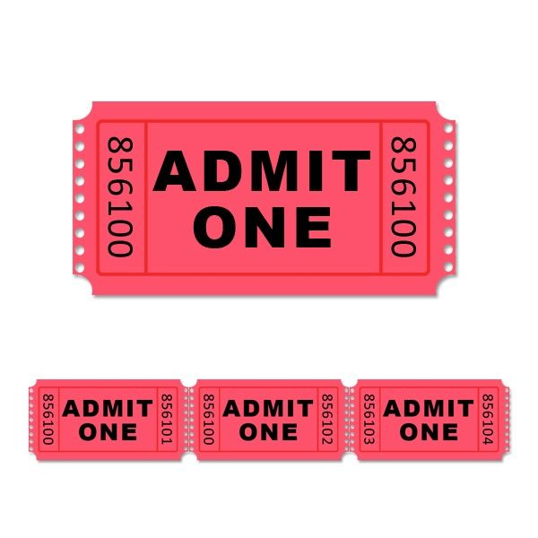 ticket template Photoshop Website template stock photo admit one