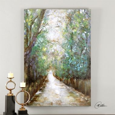 Uttermost Greenway Hand Painted Art