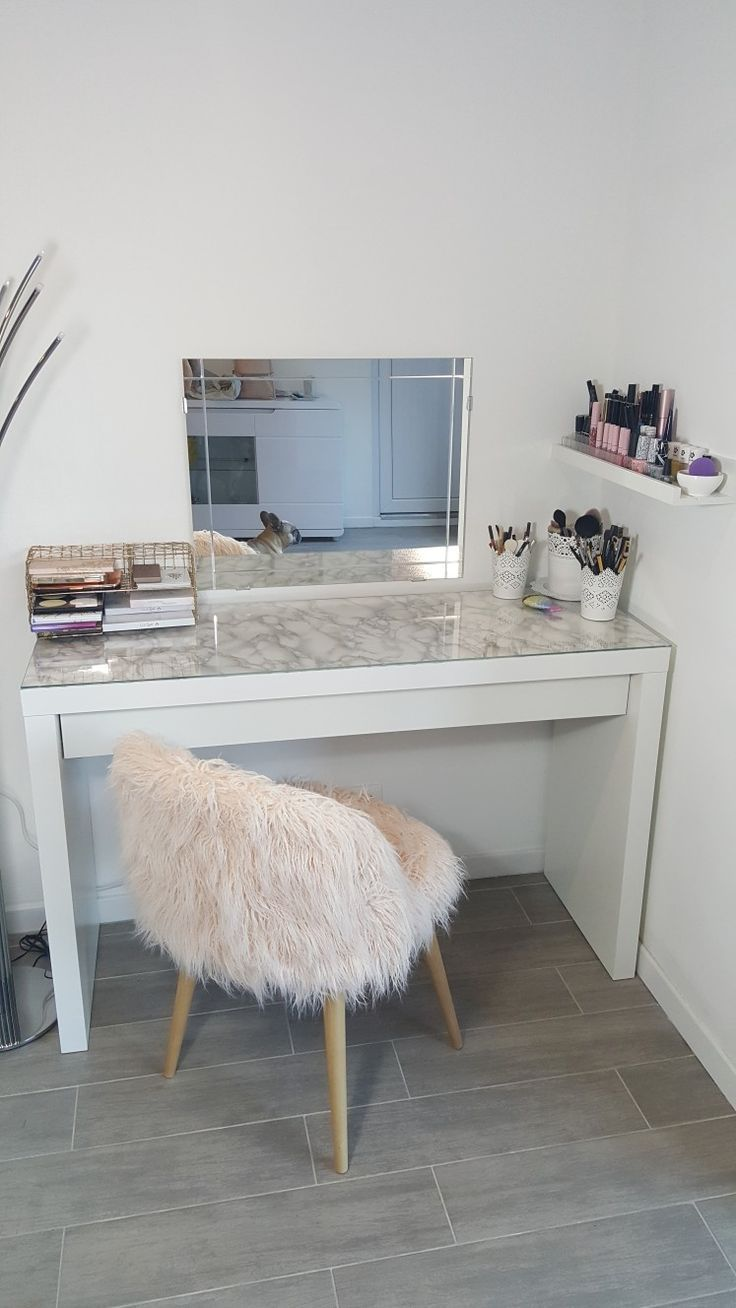 ikea coiffeuse et chaise maquillage