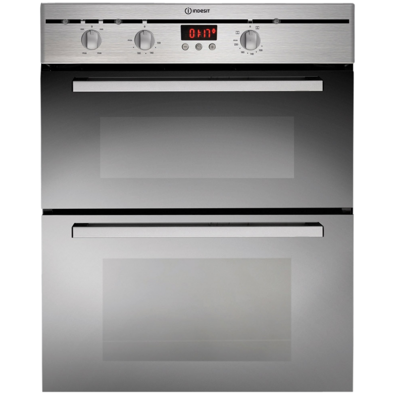 Indesit 60cm Double Under Bench Wall Multi Function Oven