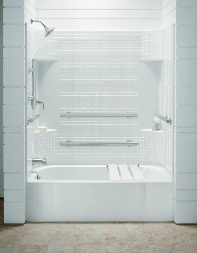 Koehler Bathtubs Kohler Almond 60 X 30 X 72 Ada Tile Bath
