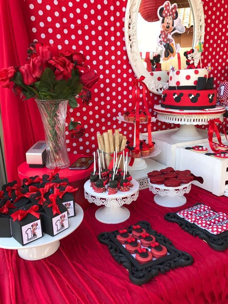 What A Gorgeous Minnie Mouse Birthday Party Love The Dessert Table See More Ideas And Share Yours At CatchMyParty