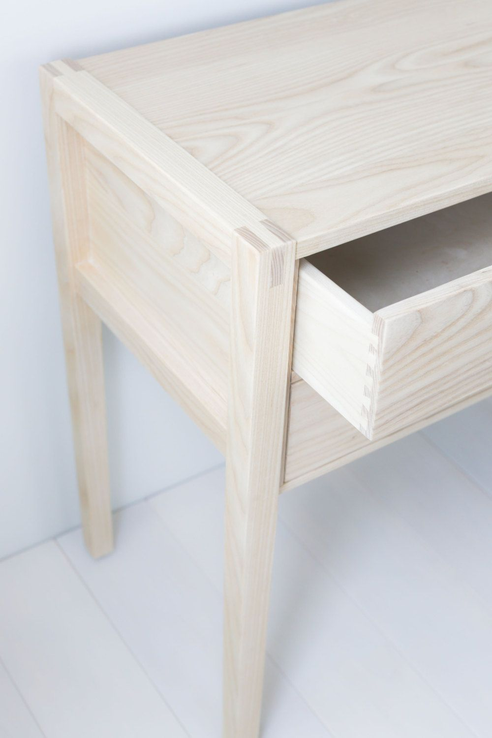 This Console Entryway Table Is Made From Solid Ash Features  # Muebles Bustper