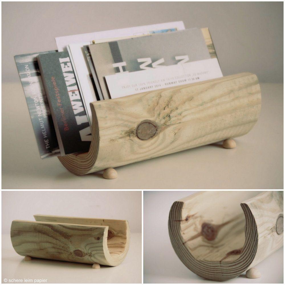 diy holz briefhalter basteln briefhalter die arbeit und. Black Bedroom Furniture Sets. Home Design Ideas