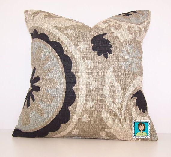 24X24 Pillow Insert Burlap Suzani Pillow Cover Eurosham Lumbar18 X 18 20 X 20 24 X