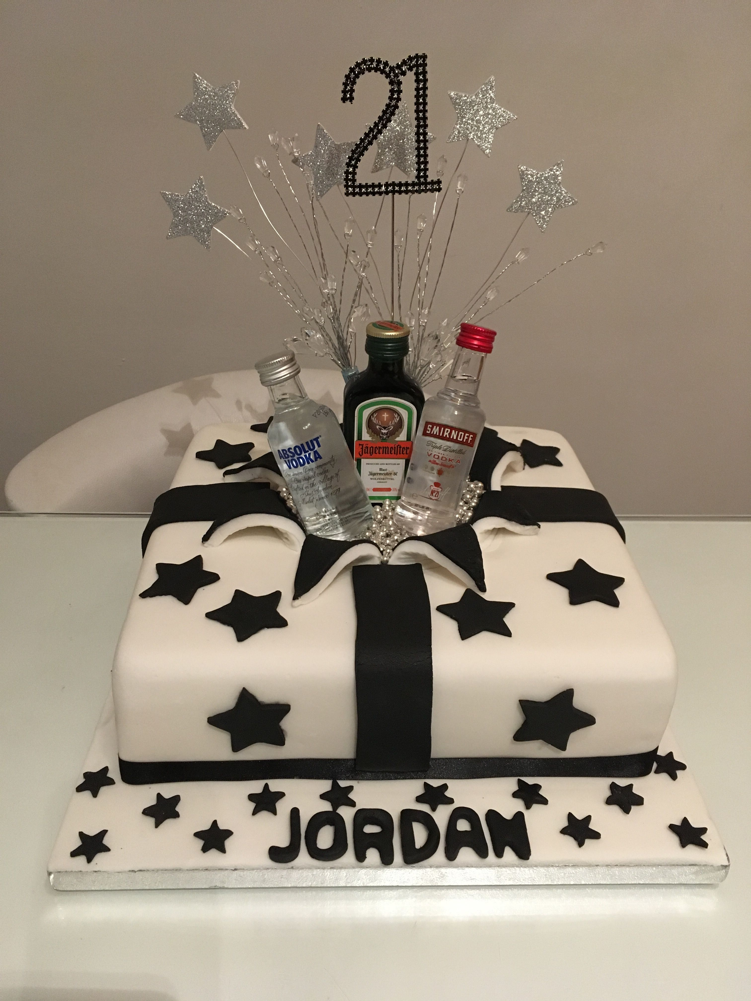 Fabulous Jordans 21St Cake With Images 21St Birthday Cakes 21St Funny Birthday Cards Online Fluifree Goldxyz