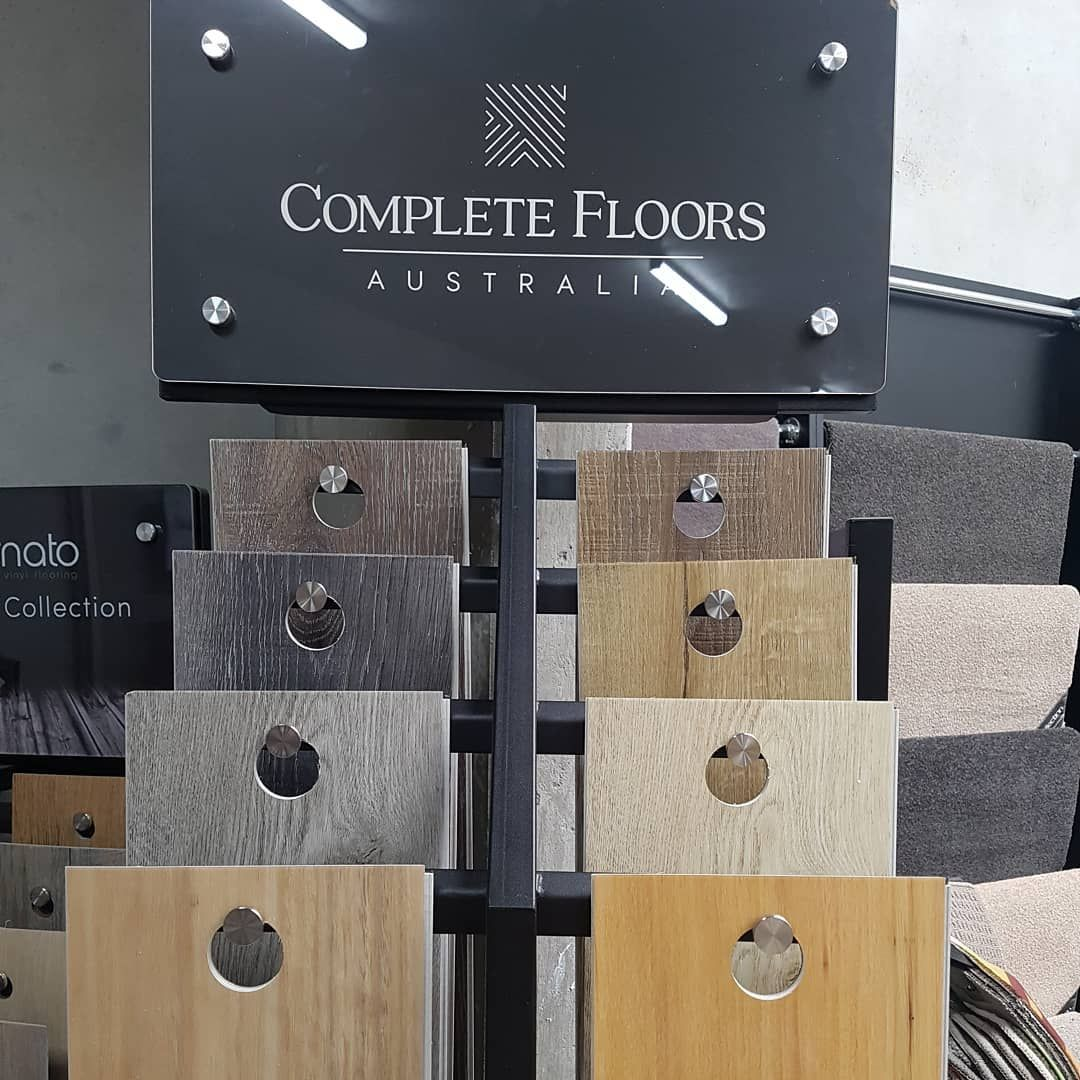 The new Supacore hybrid flooring stand on display at