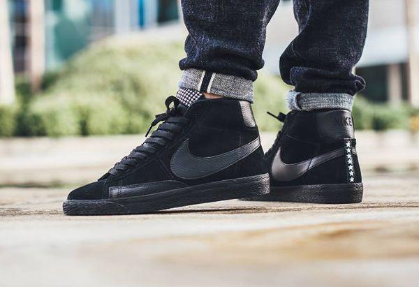 size 40 f022e a7fa4 Nike Blazer Mid Premium Vintage Suede Black Gum (Star Pack) pas cher (2)