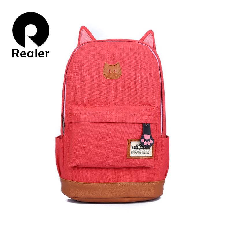 d348bd0c487d Милый кот оптовая вкладыши мультфильм холст рюкзак для женщин девочки сумка  ранцы рюкзак школа рюкзак детская школа книга сумки купить на AliExpress